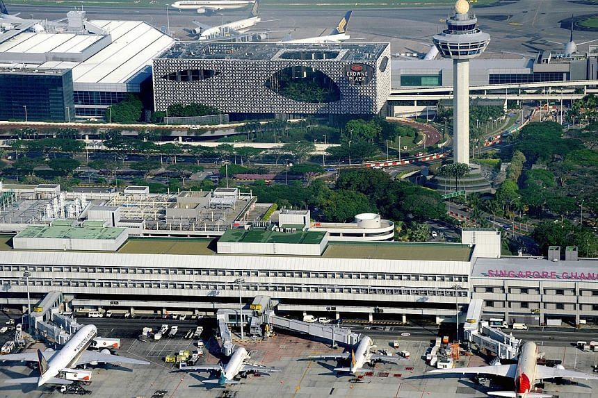 Reasons for Changi Airport's slowdown in growth include prolonged weakness in demand for air travel to and from Thailand and China.