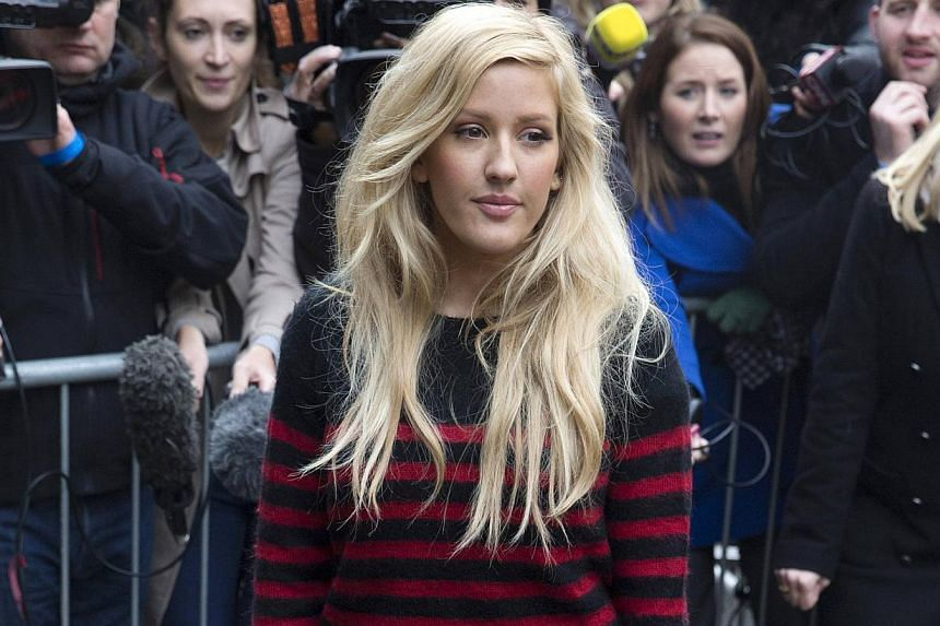 British singer Ellie Goulding arrives for the recording of the Band Aid 30 charity single in west London on Nov 15, 2014. -- PHOTO: REUTERS