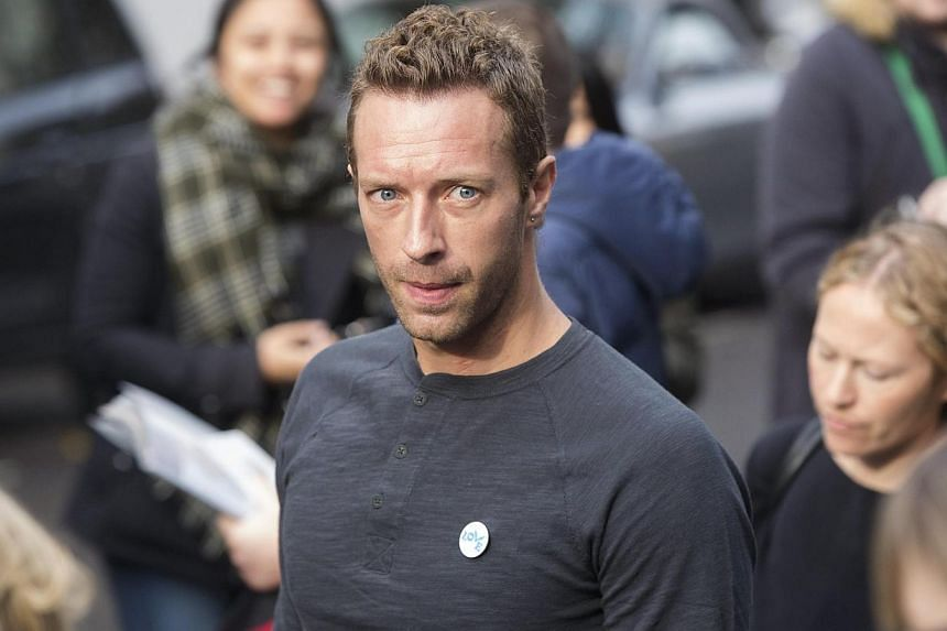 Coldplay lead singer Chris Martin arrives for the recording of the Band Aid 30 charity single in west London on Nov 15, 2014. -- PHOTO: REUTERS