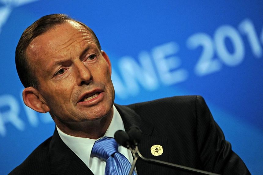 Australia Prime Minister Tony Abbott speaks at a press conference on the final day of the G20 Summit in Brisbane on Nov 16, 2014. Australian premier Tony Abbott always said he wanted the Brisbane G20 to come up with practical actions and a communique