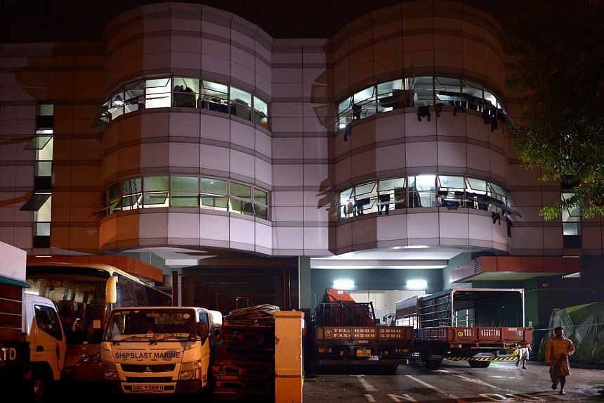 Tuas View Square, where more than 10 factories have been refurbished into dormitories for foreign workers, has become a kind of mini dormitory town and a home away from home to about 5,000 workers, mainly from India and Bangladesh.