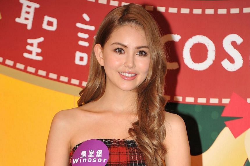 Taiwanese-Australian beauty Hannah Quinlivan is 21 years old and was born in Taiwan to an Australian dad and a Korean-Taiwanese mother. -- PHOTO: APPLE DAILY