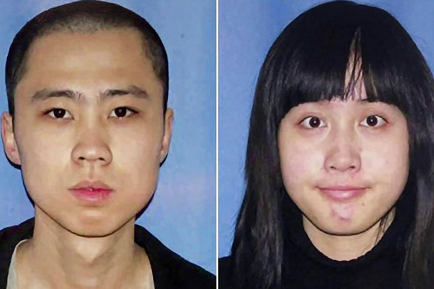 The victims Wu Ying and her boyfriend Qu Ming.-- PHOTO: FACEBOOK /LA POLICE HANDOUT