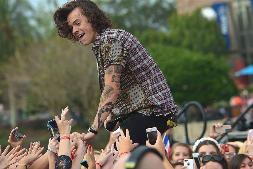 Harry Styles of One Direction appears on NBC's Today Show to release their new album Four at Universal City Walk At Universal Orlando on Nov 17, 2014 in Orlando, Florida.