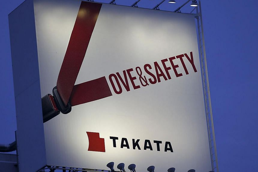 As one reference for what Takata may face, Toyota Motor paid at least US$2.6 billion (S$3.4 billion) over a US recall crisis four years ago linked to four deaths, all in one car. -- PHOTO: REUTERS