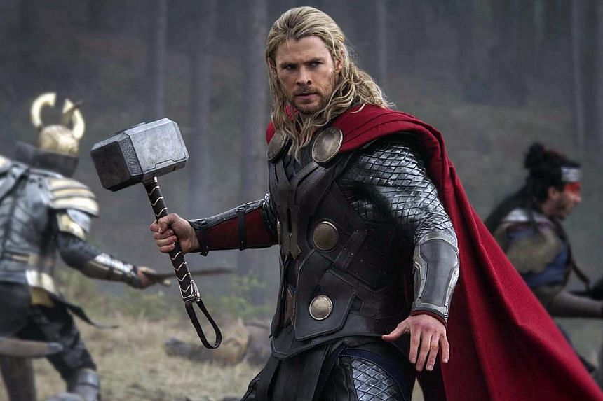 A cinema still from Thor 2 starring Chris Hensworth. Hemsworth has been named People's Sexiest Man Alive. -- PHOTO: WALT DISNEY PICTURES