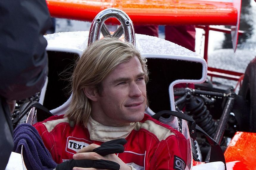 A cinema still from Rush starring Chris Hemsworth. Hemsworth has been named People's Sexiest Man Alive. -- PHOTO: CATHAY-KERIS FILMS