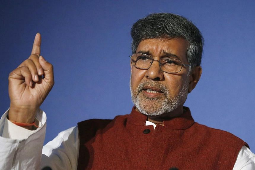 Nobel peace laureate Kailash Satyarthi said on Wednesday the failure to end slavery was one of world's biggest sins as he called for urgent action to tackle a rise in the numbers of slaves globally to an all-time high. -- PHOTO: REUTERS