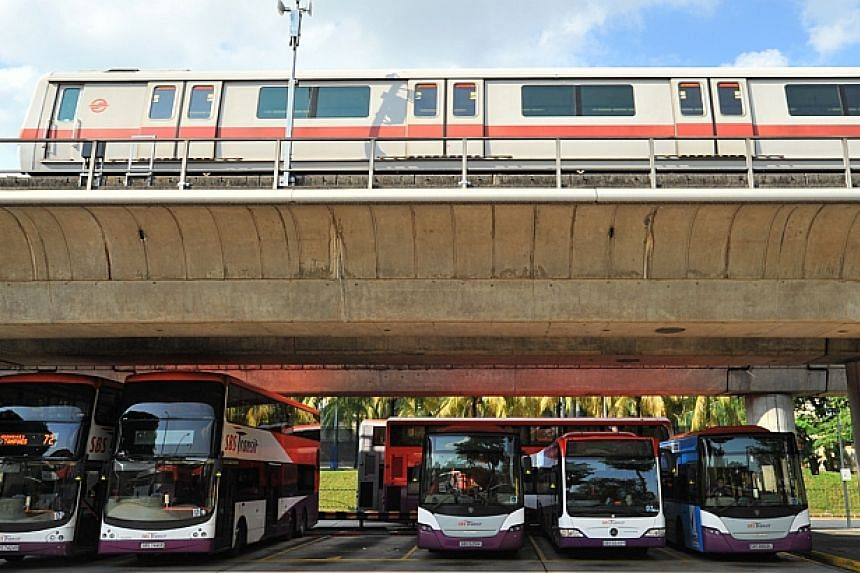 Public transport operators may submit their applications for fare review to the council for consideration by Dec 19. The results of the applications will be announced in the first quarter of 2015. -- PHOTO: ST FILE