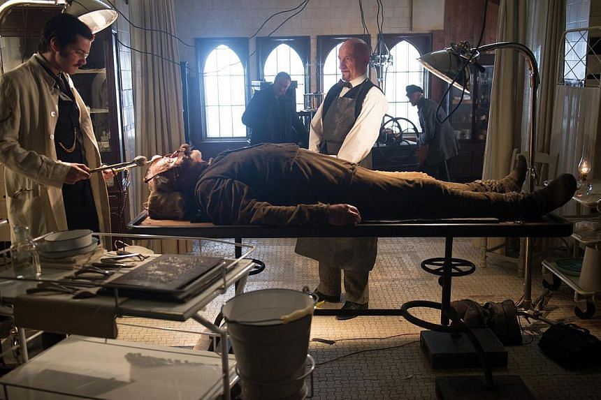(From left) Jim Sturgess, Michael Caine and Ben Kingsley in Stonehearst Asylum.