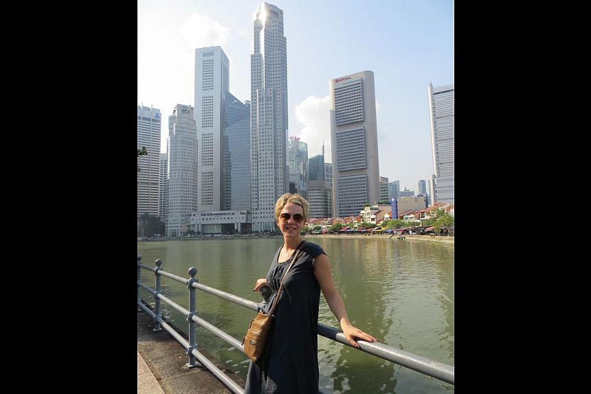 Ms Valeria Karpovich from Russia was here last month and liked the clean streets and architecture. -- PHOTO: COURTESY OF VALERIA KARPOVICH