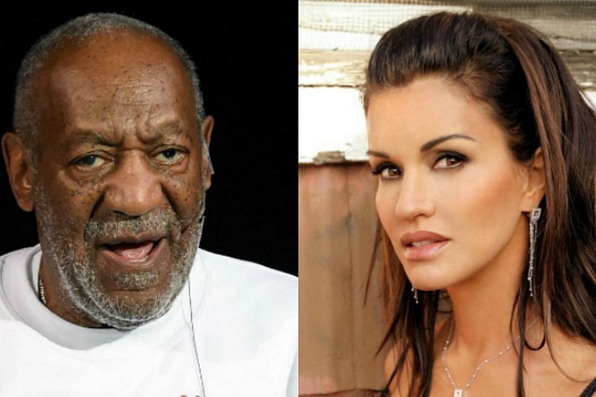 Actress and model Janice Dickinson (right) has come forward to accuse comedian Bill Cosby of drugging and raping her. -- PHOTO:AFP/MEDIACORP