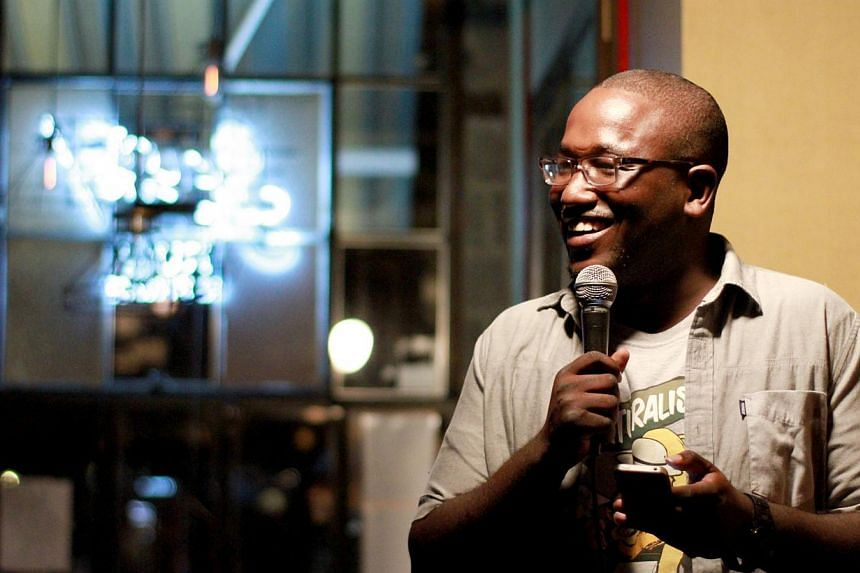 American comedian Hannibal Buress hosting his Sunday night showcase at The Knitting Factory in Brooklyn in 2012. -- PHOTO: WIKIMEDIA COMMONS