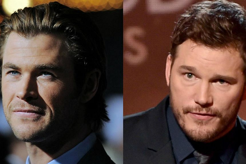 """Chris Hemsworth (left) was namedPeople magazine's Sexiest Man Alive, beating out contenders such as Guardians of The Galaxy star Chris Pratt. Pratt's fans were riled by the news, with one writing online, """"Chris Pratt got robbed of the #SexiestM"""
