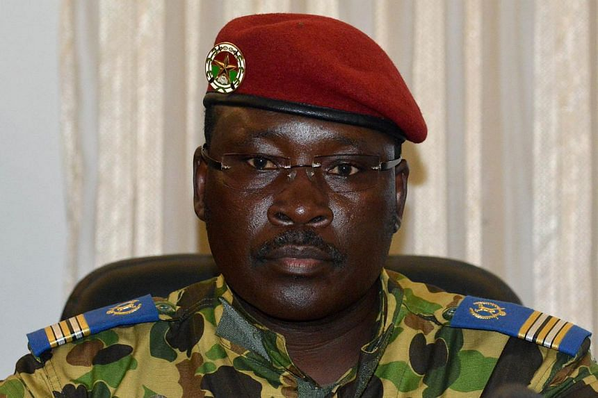 Lieutenant-Colonel Isaac Zida, who took power after the fall of Burkina Faso president Blaise Compaore, was named prime minister in the west African country's interim government on Wednesday. -- PHOTO: AFP