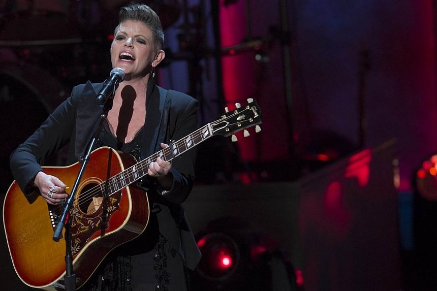 Singer Natalie Maines of the Dixie Chicks performs during a tribute concert in honour of singer Billy Joel, recipient of the 2014 Library of Congress Gershwin Prize for Popular Song, at DAR Constitution Hall in Washington, DC on Nov 19, 2014. -- PHOT