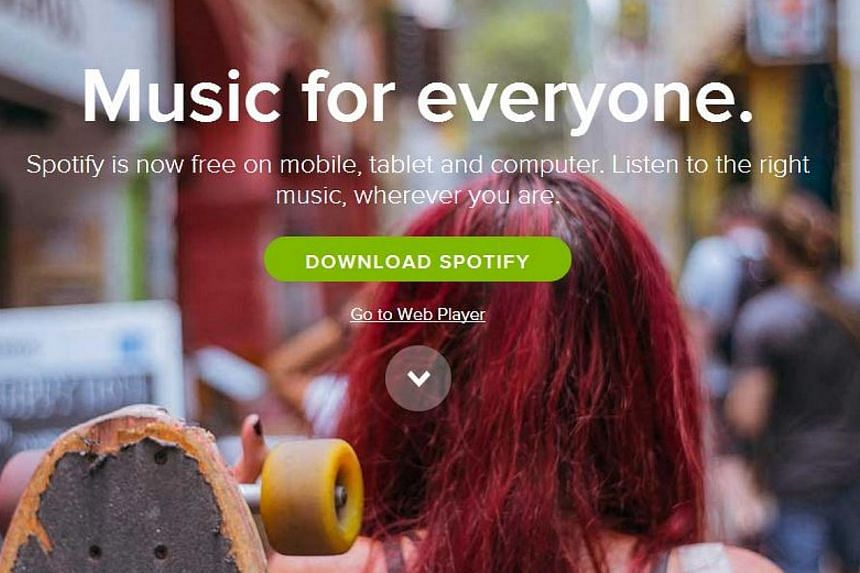 Streaming music services like Spotify will soon affect how album sales is counted on the Billboard chart. -- PHOTO: SCREENSHOT OF SPOTIFY.COM