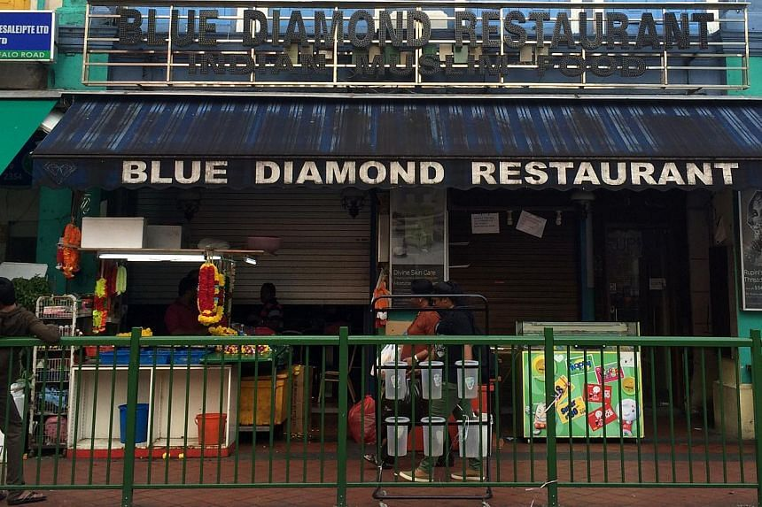 The director of popular Indian eating house Blue Diamond Restaurant has been charged by the Ministry of Manpower (MOM) with providing false salary information. -- PHOTO: THE NEW PAPER FILE