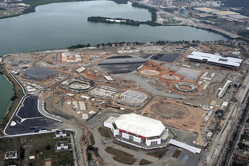 """United States Olympic Committee managing director Leslie Gamez said on Wednesday Rio had made """"stunning progress"""" in preparations for the 2016 Olympics. The construction site of the Rio 2016 Olympic Park as seen from above on Nov 11, 2014. -- P"""