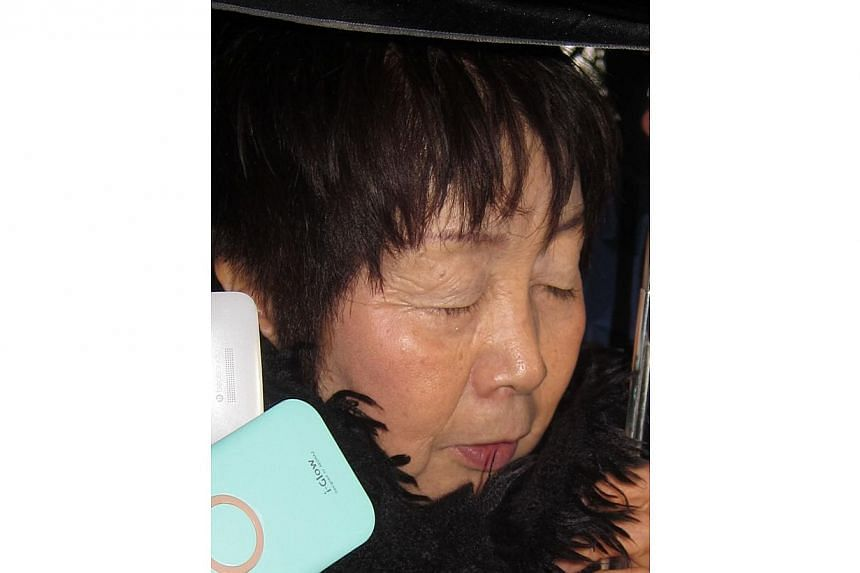 A March 13, 2014 photo shows 67-year-old Japanese woman Chisako Kakehi, who was arrested in Kyoto on Nov 19 on suspicion of poisoning her husband with cyanide. -- PHOTO: AFP