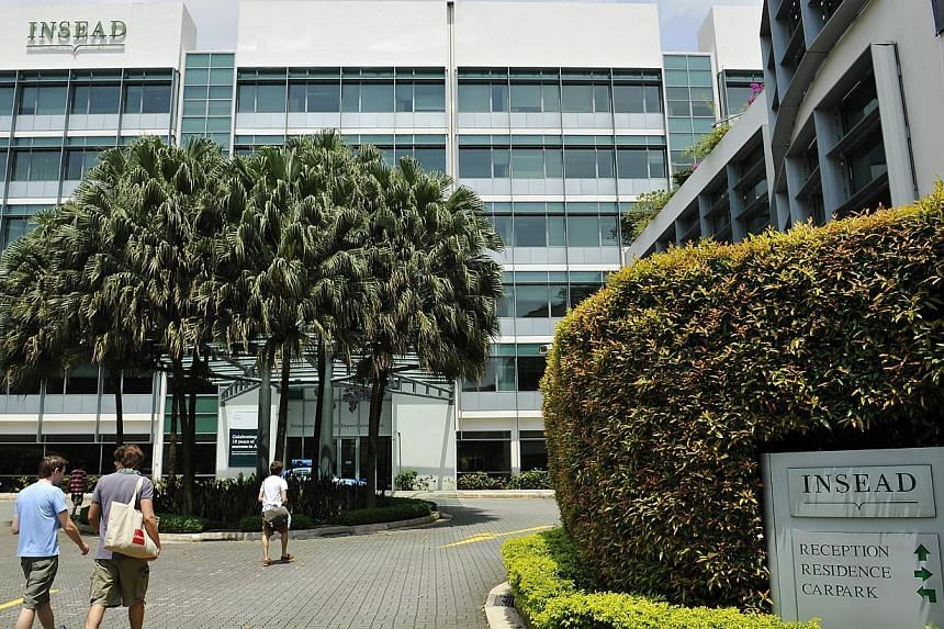The exterior of Insead Singapore campus, located in Ayer Rajah Avenue, off Buona Vista Road. -- PHOTO: ST FILE