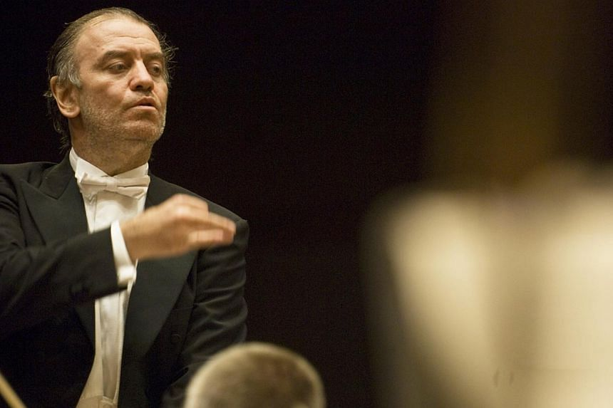 Conductor Valery Gergiev led the London Symphony Orchestra in two sold-out performances here. -- PHOTO: ALBERTO VENZAGO