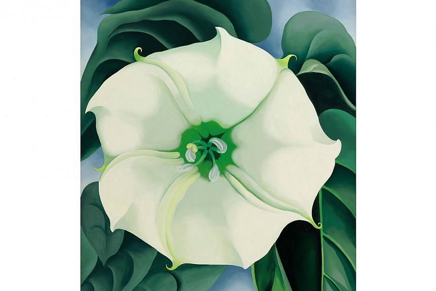 Georgia O'Keeffe's Jimson Weed/White Flower No. 1 which sold at a Sotheby's New York auction for US$44.4 million on Nov 20, 2014. -- PHOTO: GEORGIA O'KEEFFE MUSEUM