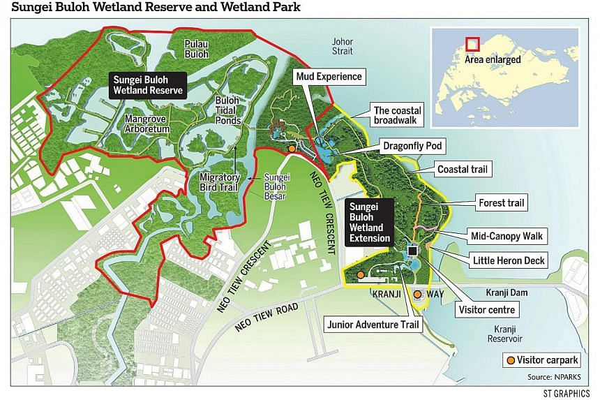 The map of Sungai Buloh Wetland reserve featuring the new highlights. -- ST GRAPHICS