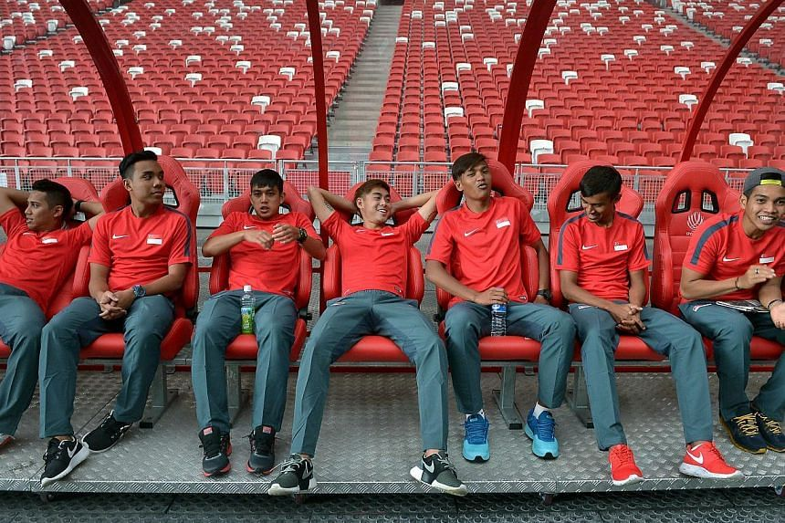 The Singapore national football team roamed around the National Stadium field for the first time on Friday morning, as part of a familiarisation tour ahead of the Asean Football Federation (AFF) Suzuki Cup, which begins on Sunday with a Group B game