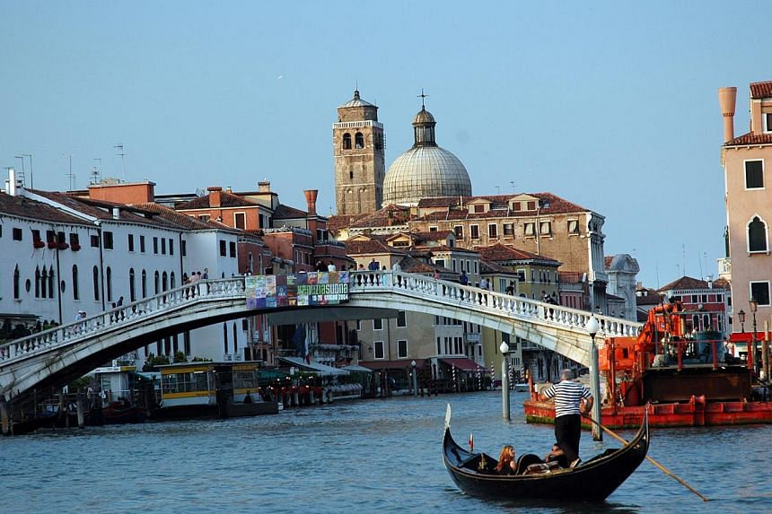 Famed for the serene silence of its timeless nooks and crannies, Venice is about to get even quieter by banning noisy suitcases on wheels. -- PHOTO: DYNASTY TRAVEL