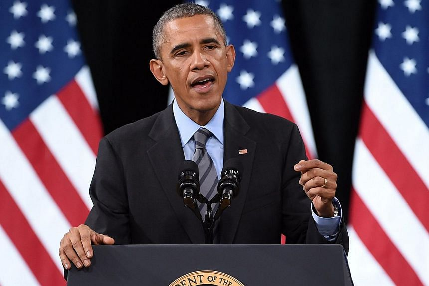 President Barack Obama speaks about his executive action on U.S. immigration policy at Del Sol High School in Las Vegas, Nevadaon Nov 21, 2014. -- PHOTO: AFP