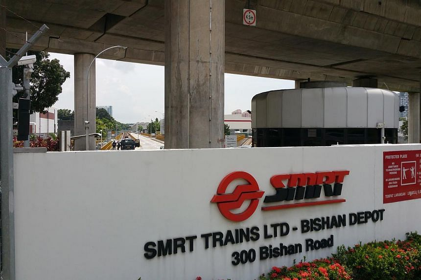 Transport operator SMRT yesterday vowed to strengthen all its security measures, even as it assists the police with investigations into the latest trespassing incident at its Bishan Depot. -- PHOTO:SHIN MIN