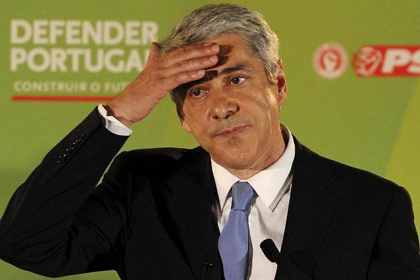 Portugal's former Socialist prime minister, Jose Socrates, was arrested on Nov 21, 2014, as part of an inquiry into tax fraud, corruption and money laundering. -- PHOTO: AFP