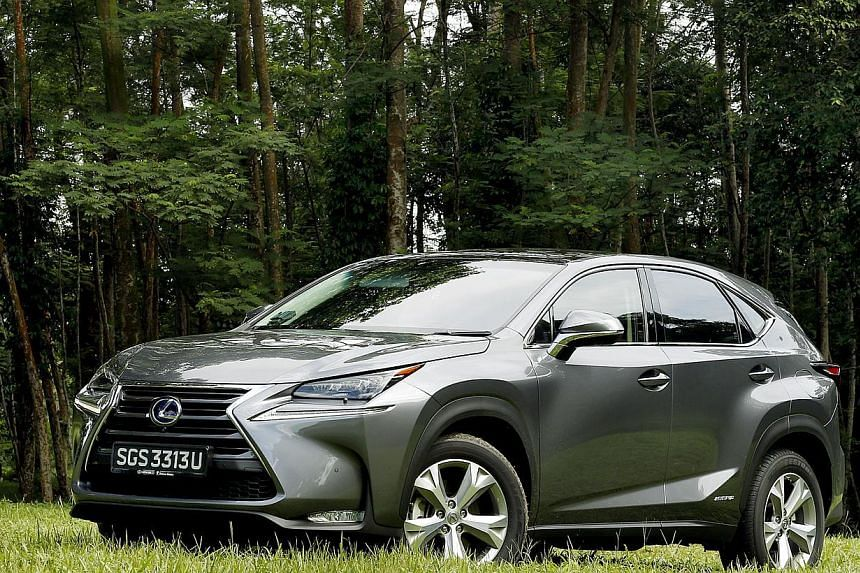 The Lexus NX300h looks sporty with its edgy design and boasts clever features such as a touch pad in the cabin.