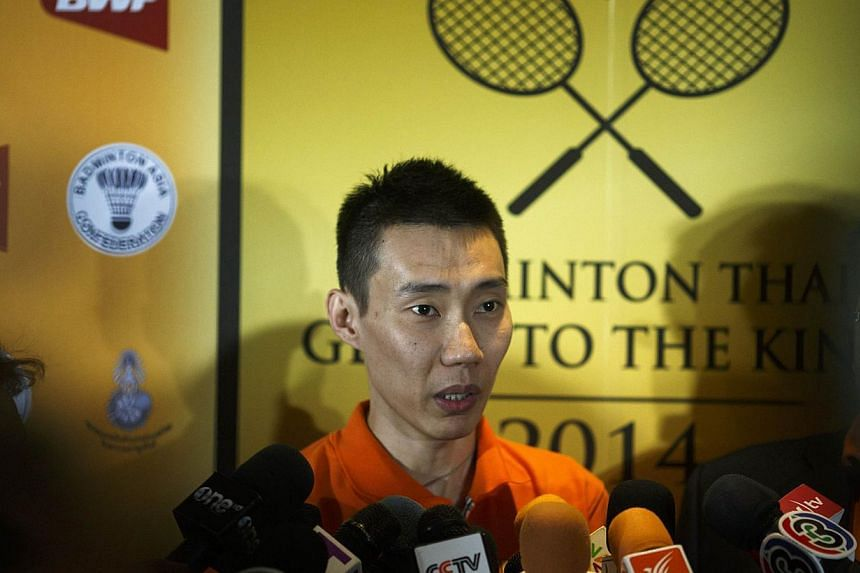 Malaysia's Lee Chong Wei speaks to media during a news conference in Bangkok on Nov 21, 2014. -- PHOTO: REUTERS
