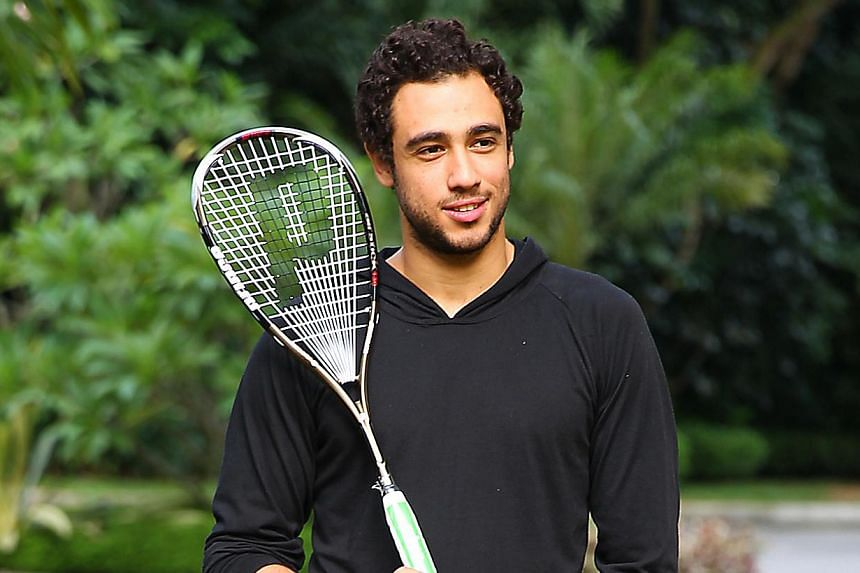 Ramy Ashour (above) won one of the greatest World Open finals on Friday when he saved a match point to triumph 13-11, 7-11, 5-11, 11-5, 14-12 against his Egyptian compatriot Mohamed El Shorbagy. ST FILE PHOTO