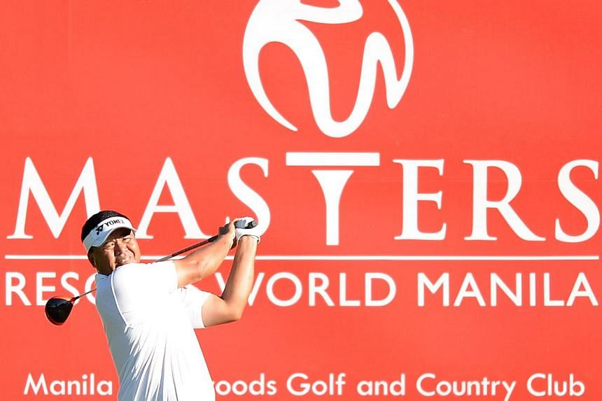 Local golfer Mardan Mamat ended a 2 1/2-year winless drought on the Asian Tour by breezing to a six-shot victory at the $1.3 million Resorts World Manila Masters on Sunday. -- PHOTO: ASIAN TOURS