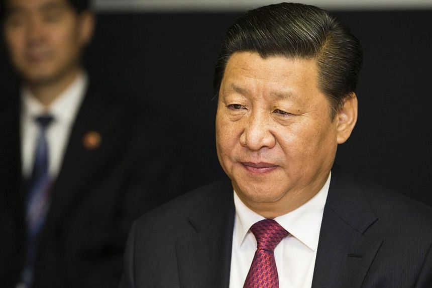 Chinese President Xi Jinping during talks in Auckland on Nov 21, 2014. -- PHOTO: AFP