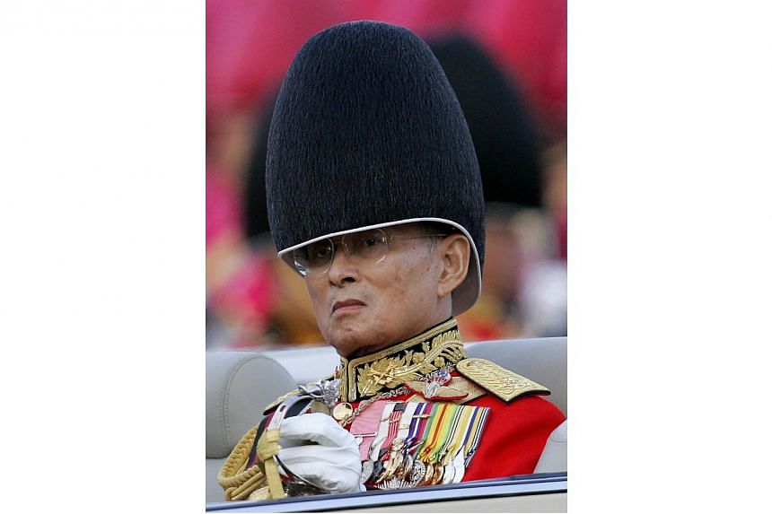 King Bhumibol, 86, (in this file picture taken in 2007) attended an official ceremony at Bangkok's Siriraj Hospital where he is being treated following an operation to remove his gallbladder. -- PHOTO: AFP