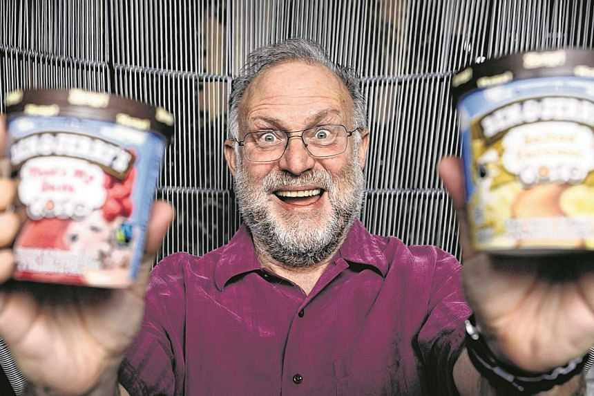 Mr Jerry Greenfield is in Singapore for the first time for the launch of the Join Our Core competition in Asia. The competition, organised by the ice cream company and social enterprise support group Ashoka, is a launchpad for social entrepreneurs. -