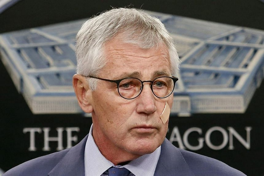 US Defense Secretary Chuck Hagel is to resign under pressure on Monday, the New York Times reported, after criticism of the campaigns in Afghanistan and against the Islamic State group. -- PHOTO: REUTERS
