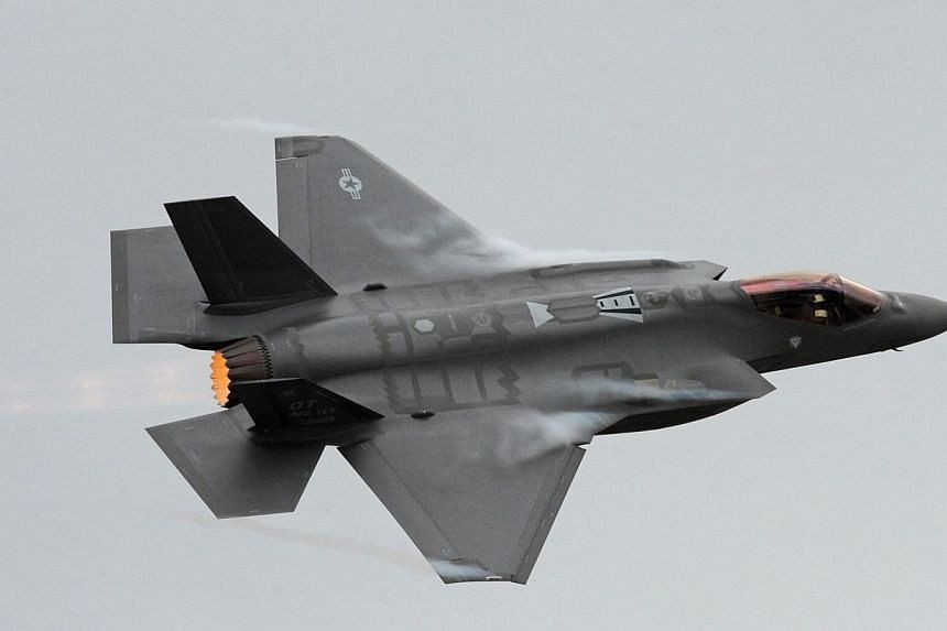 This Sept 13, 2013 US Air Force photo obtained Sept 26, 2014 shows an F-35A Lightning II as it gets ready to land at Hill Air Force Base, Utah.Britain on Monday announced it had signed a contract with US manufacturer Lockheed Martin to buy the