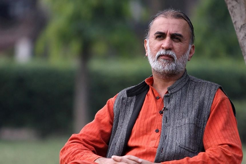 A literary festival run by a top Indian newspaper group cancelled on Monday an invitation to Tarun Tejpal, a former leading editor of an investigative magazine charged with raping a colleague after a public outcry. -- PHOTO: ESPLANADE/SHAILENDRA PAND