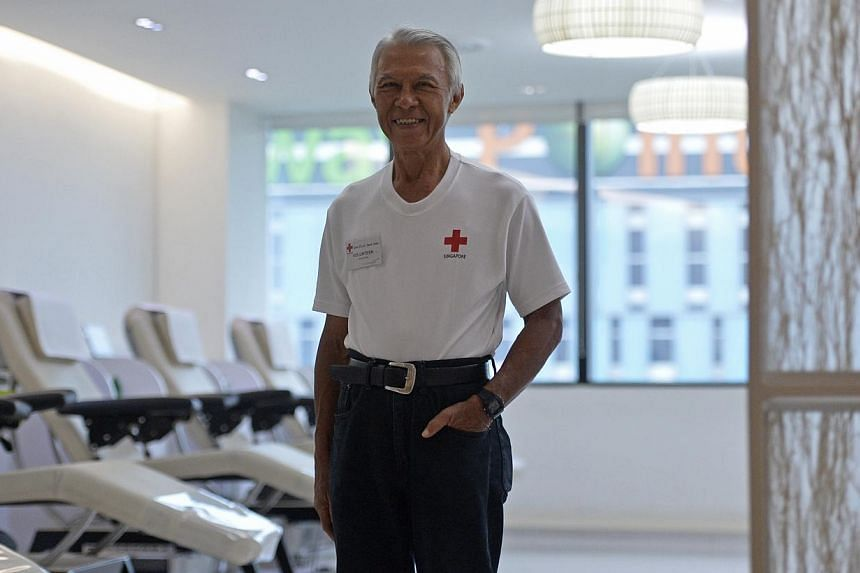 Mr James Law, 67, a retired computer network system administrator, was a regular donor of blood for 40 years until four years ago when a doctor found a certain protein in his blood, which was deemed unsuitable for transfusions. He still volunteers at