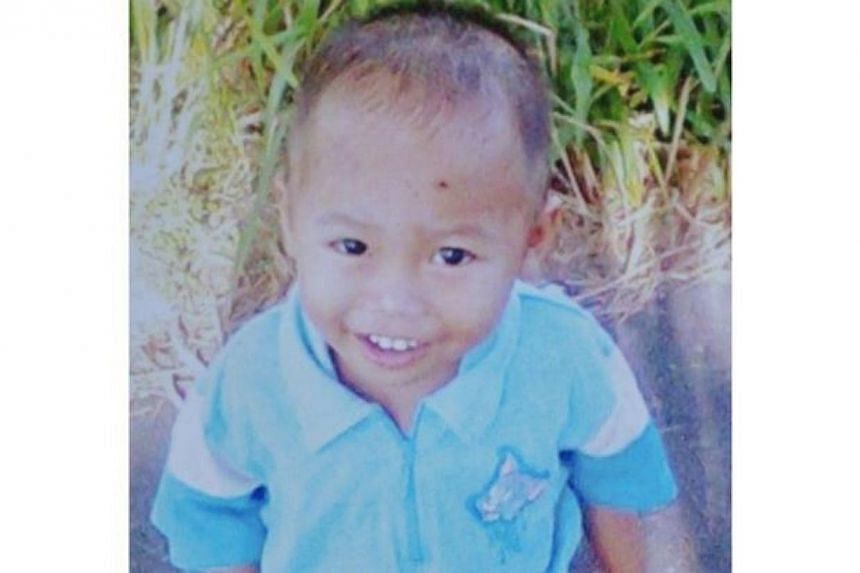 Three-year-old Shahriqal Sidek was allegedly murdered by his neighbour. -- PHOTO:THE STAR/ASIA NEWS NETWORK