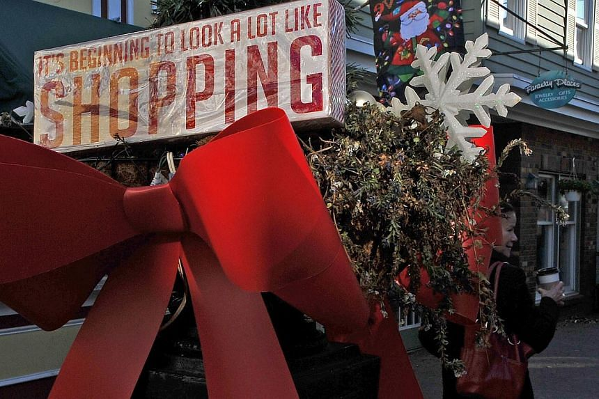A shopping mall in Rehoboth Beach, Delaware, on Nov 22, 2014. The second half of the week marks the start of the key holiday shopping season in the US, with Black Friday likely to generate all sorts of anecdotes about the strength or weakness of the