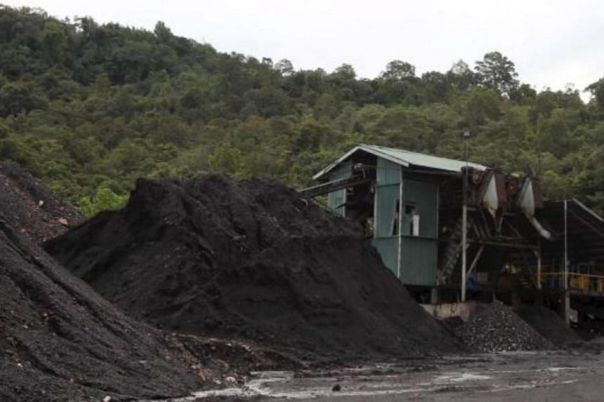 Piles of coal at the mine in Selantik, Pantu, about 130km from Kuching.--THE STAR\ASIA NEWS NETWORK