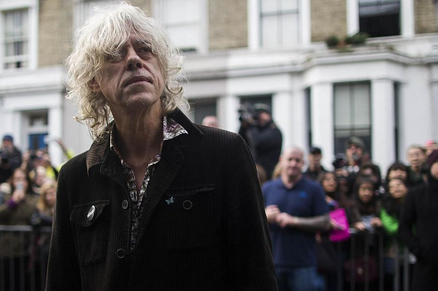 Irish musician Bob Geldof arrives at a west London studio to record the new Band Aid 30 single on November 15, 2014. Bob Geldof, One Direction, Bono and some 30 other stars recorded a 30th anniversary version of the Band Aid charity single Do They Kn