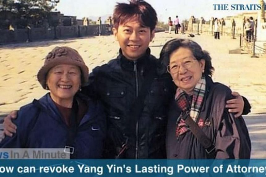 In today's News In A Minute, we look at how the wealthy widow at the centre of a legal tussle over her assets can now revoke the LPA granted to former China tour guide Yang Yin. -- PHOTO: SCREENGRAB FROM RAZORTV
