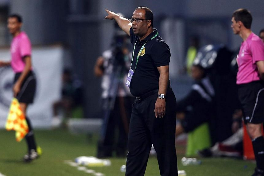 "Dollah, who took charge of the national team in June, said: ""I know how good Thailand are. We saw them play at the Asian Games in Incheon. They are very fast. It will be difficult. But we will do our best."" -- PHOTO: REUTERS"